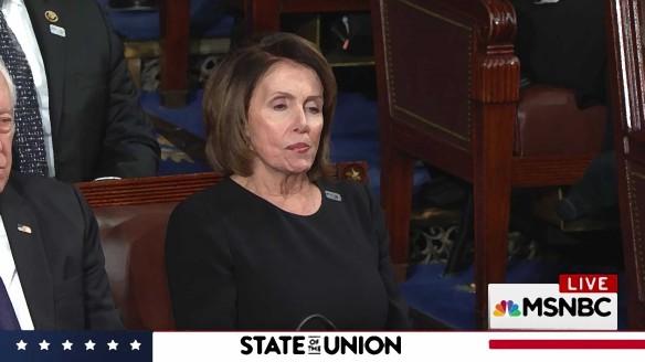 2018 SoTU Adress, Nancy Pelosi