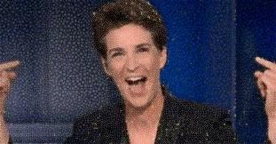 Rachel Maddow Cackling